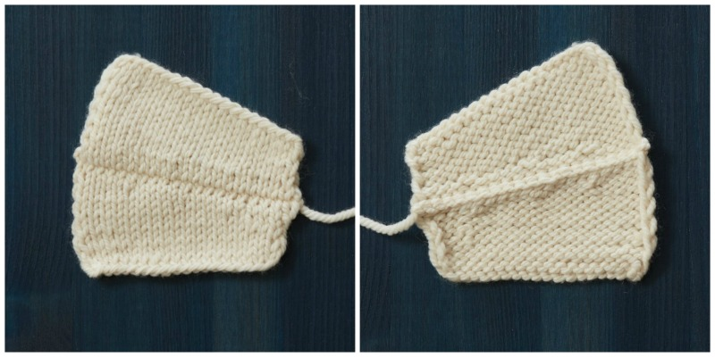 finishing a knitted garment