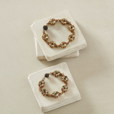 Double Primrose Bracelet by Kathy Simonds
