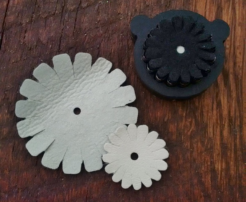 die cut leather jewelry supplies made with the Sizzix Big Shot Jewelry Studio Machine