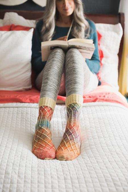 knit socks pattern