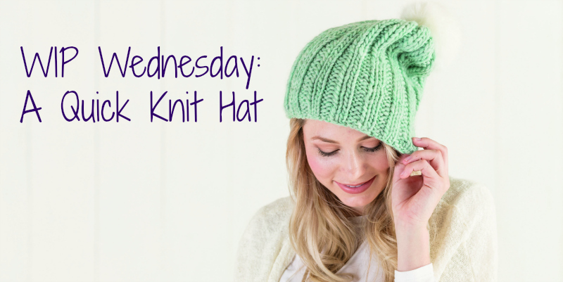 WIP Wednesday: Slouchy Ribbed Hat