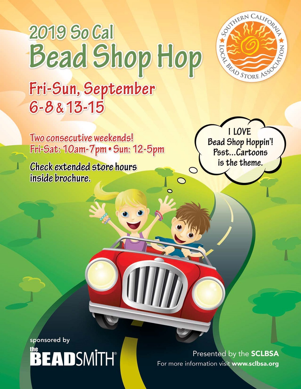 The 2019 SoCal Bead Shop Hop brochure is available for download at www.sclbsa.org/event.