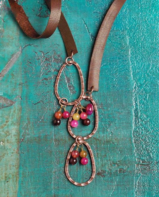 Sonoran Sunset leather jewelry making by Tracel Statler