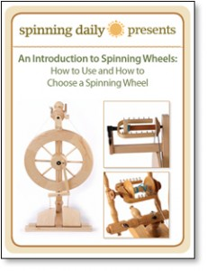 The free How to Use and How to Choose a Spinning Wheel eBook comes with tips on how to use a spinning wheel, troubleshooting, and how to choose your first spinning wheel.