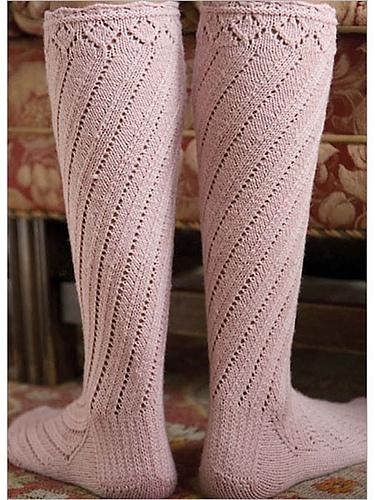 Spiral boot sock knitting pattern