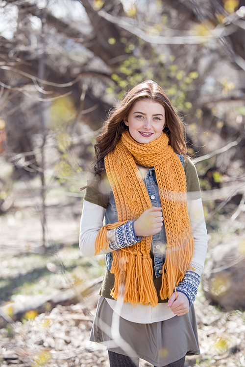 St. Croix Scarf with chunky yarn