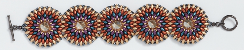 Bead Weaving a Southwest-Inspired Piece of Jewelry. gorgeous necklace and bracelet set by Shanna Steele
