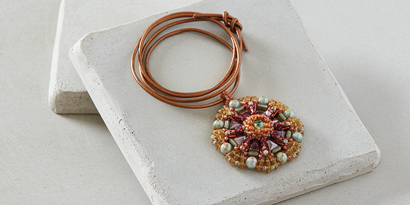 Keystone Mandala Pendant by Silke Steuernagel