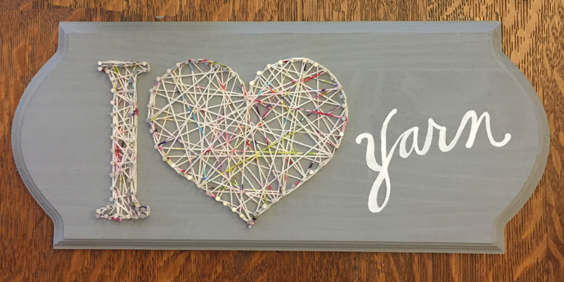 Show Your Stash a Little Love with a DIY String Art Valentine