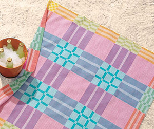 Technicolor Picnic Cloth by Tracy Kaestner in summer and winter