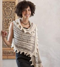 Learn how to do this knitted wrap called the Summit: American Yak Wrap from the knitting book, Knitting Wrapsody (Interweave, 2011).