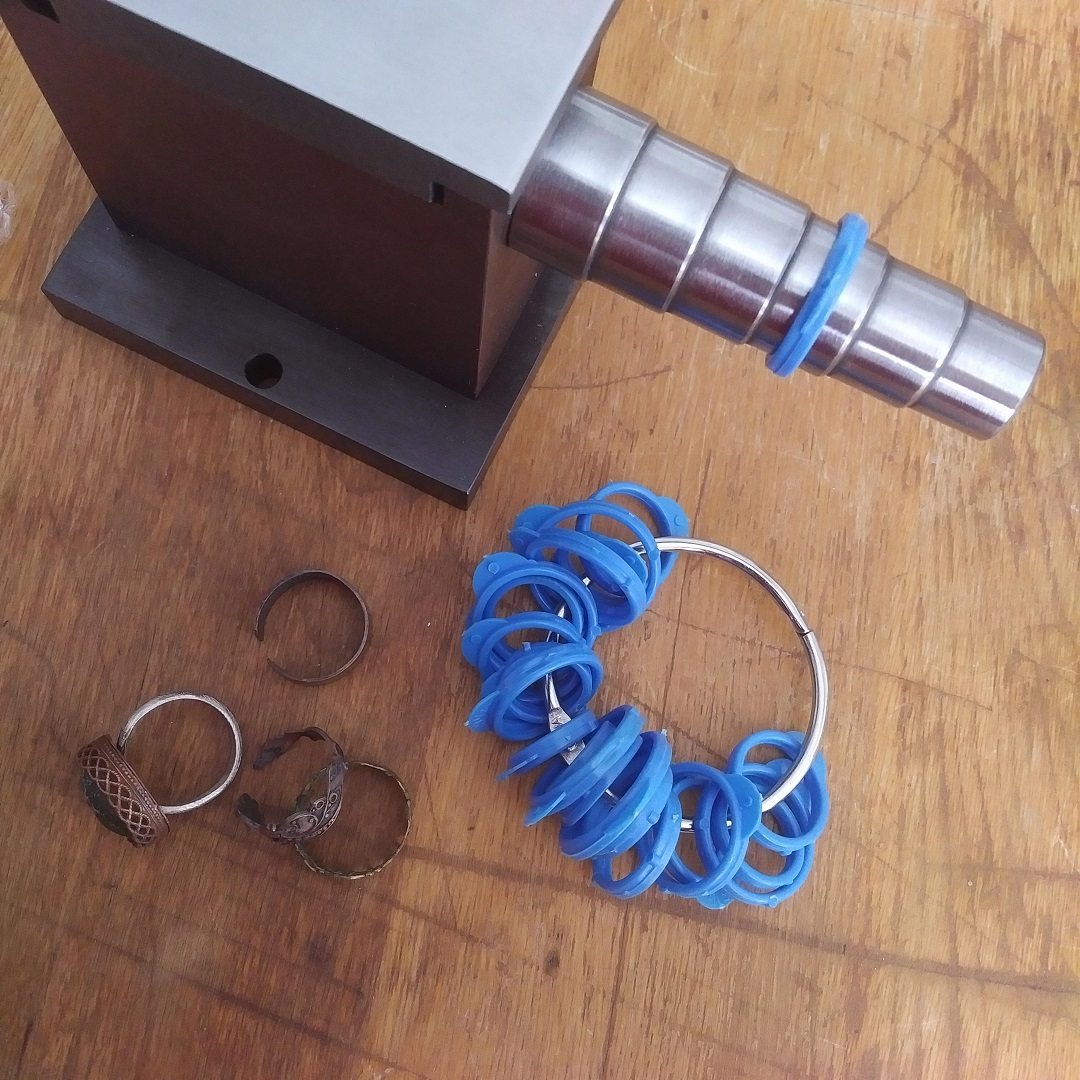 Swanstrom forming anvil ring sizer stepped sizes