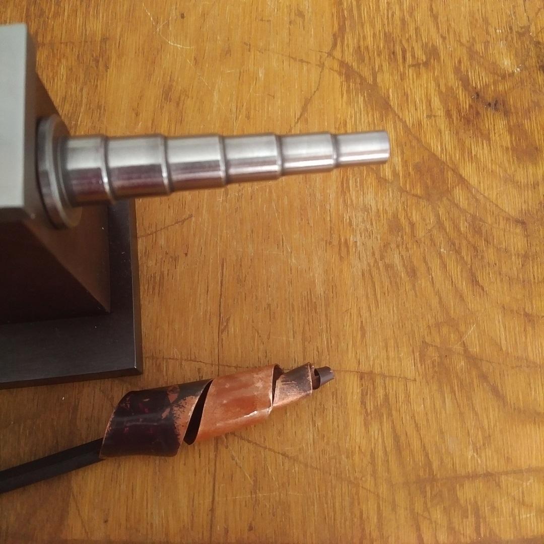 Swanstrom forming anvil spiral horn metal