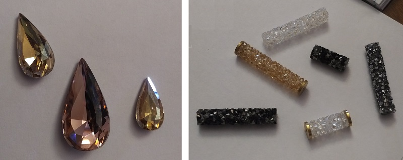 Swarovski Wanderlust - fancy teardrop stones and crystal tubing, Tucson shows