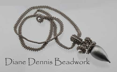 Sweet Lady Pendant by Diane Dennis at Bead Fest