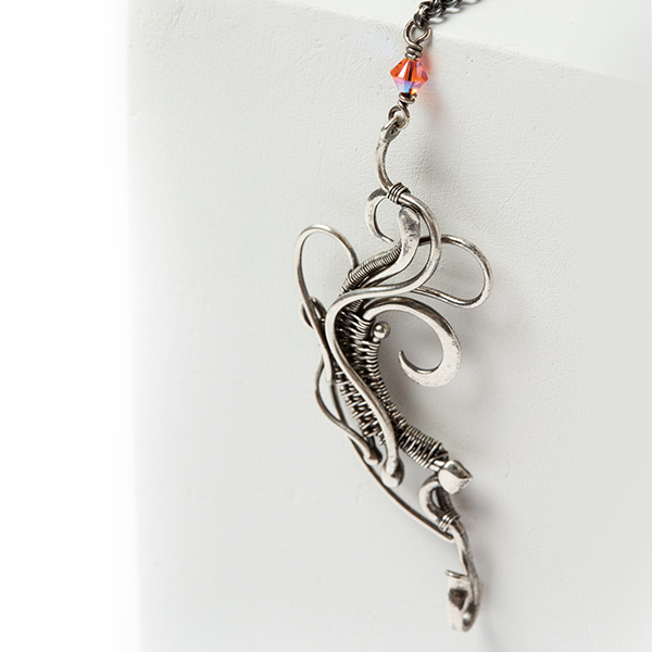wire jewelry: Tempest clasp from Woven in Wire by Sarah Thompson