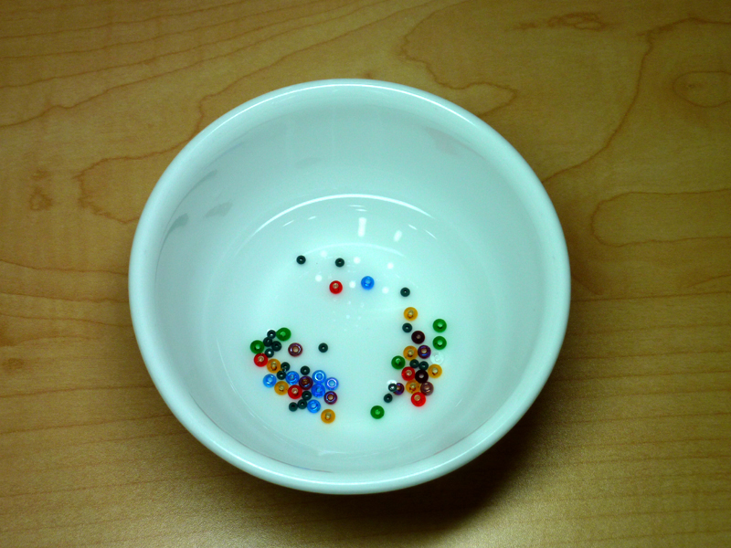testing beads for possible dye and color loss