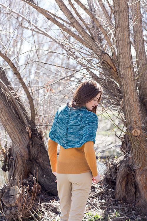 Back view of Tunisian Crochet Capelet
