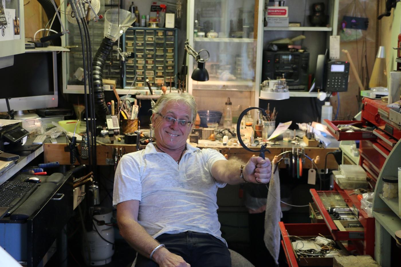 Thomas Mann in his jewelry studio