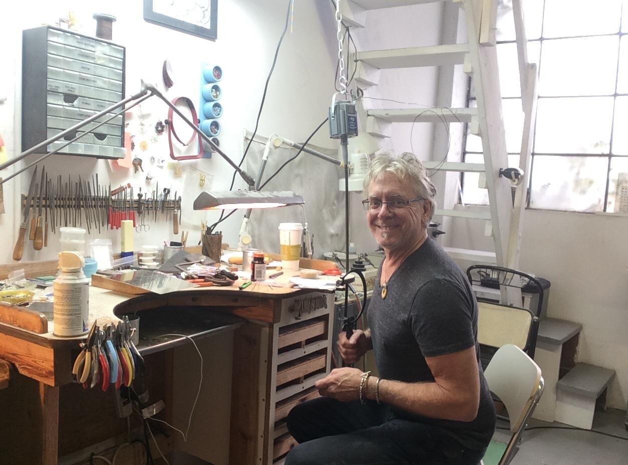 Thomas Mann work from San Francisco at Sarah Jane Hassler's studio