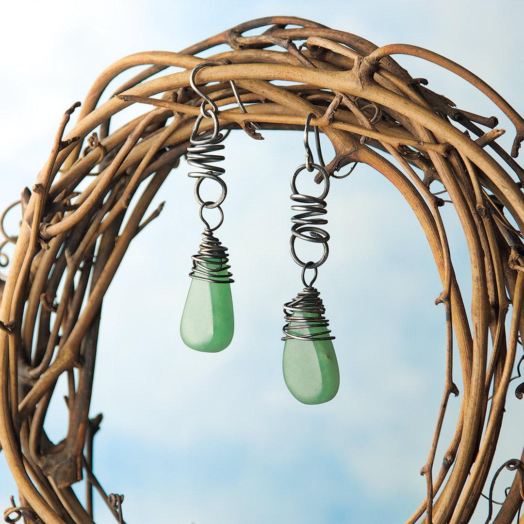 Spring Raindrops gemstones earrings by Kathy Thompson