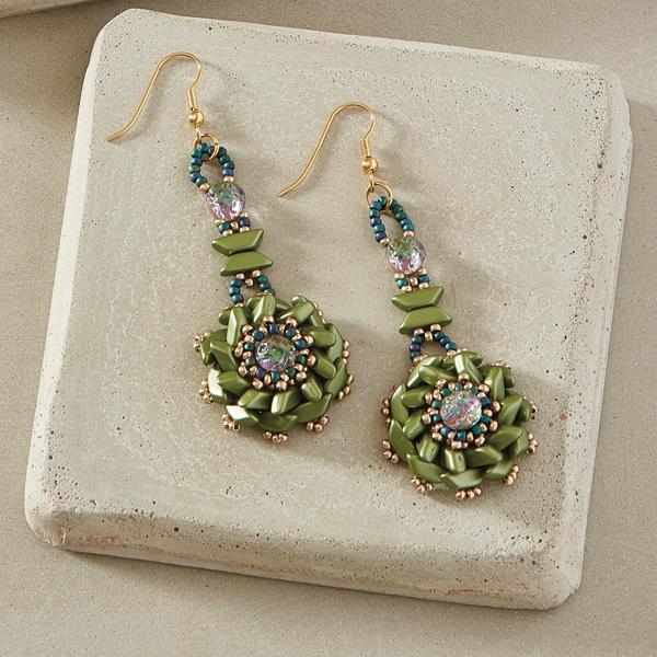 Tinos Flower Earrings Main Colorway