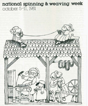 Spinning and Weaving Week 1981 Poster by Tomie dePaola