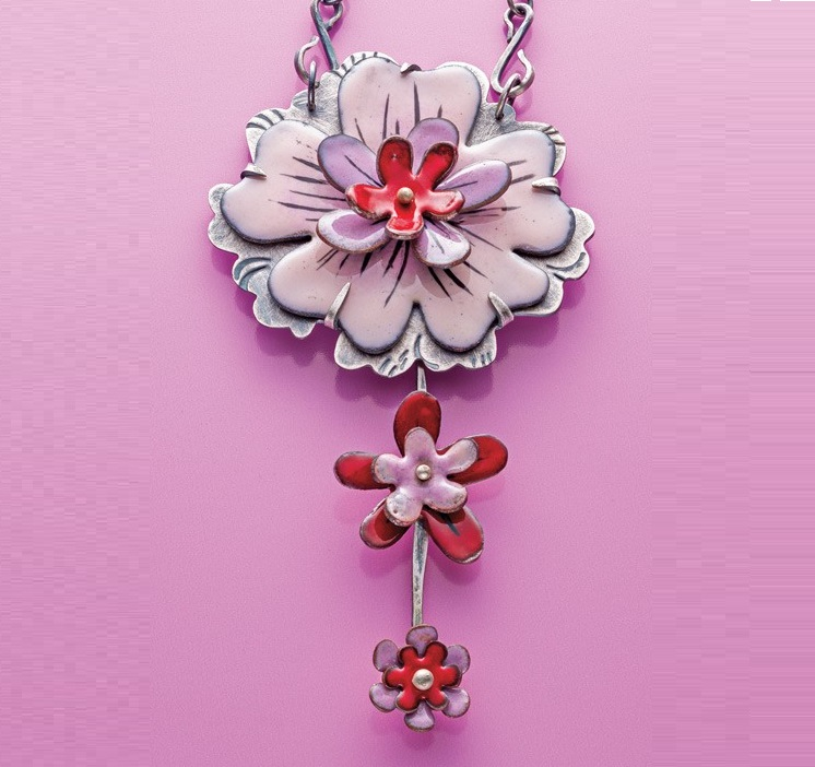 Kirsten Denbow's Torch-Fired Enamel Floral Necklace