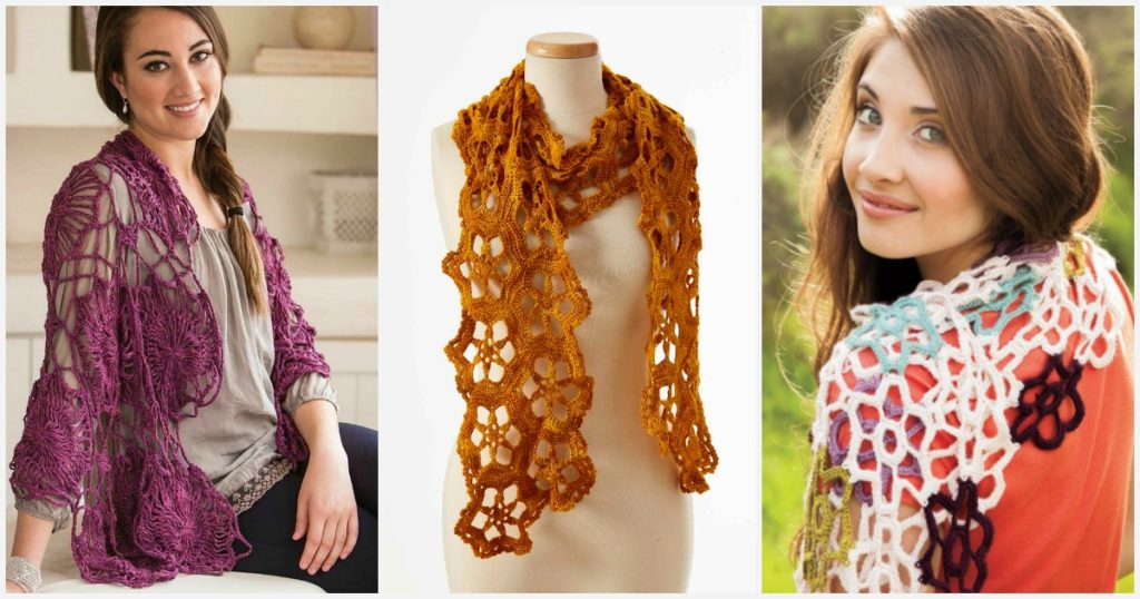 Watch Your Crochet Bloom with Flower Motif Scarf Patterns