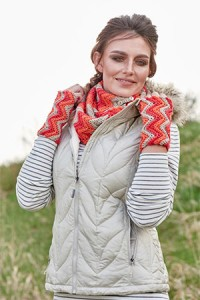 Triple Ripple Cowl and Mitts