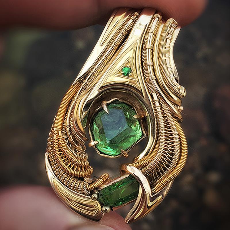 Tsavage Solis by jewelry artist C. D. Davis
