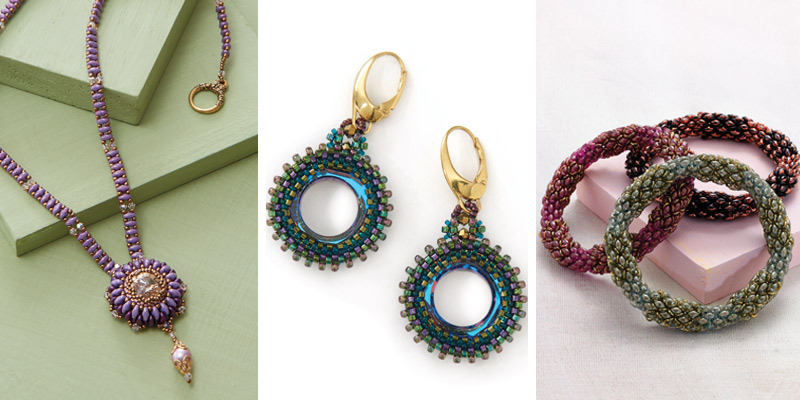 How to Stitch Variations of Peyote Stitch: What You Need to Know. Tubular peyote project collage