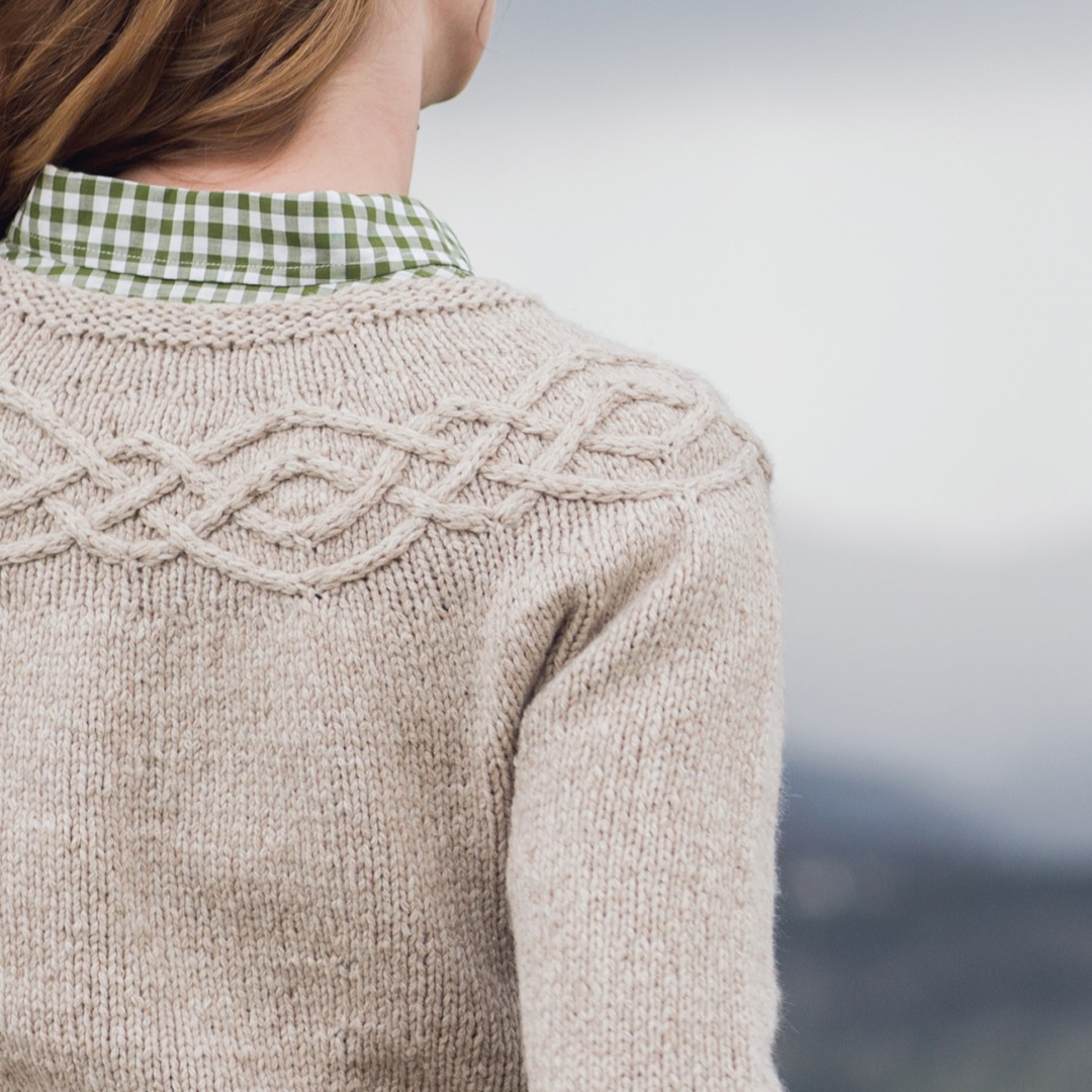 The cabled yoke is really what makes this such a special sweater.