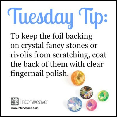 Tuesday Tip, Swarovski Crystal Fancy Stones, Foil Backing, Crystal Rivoli