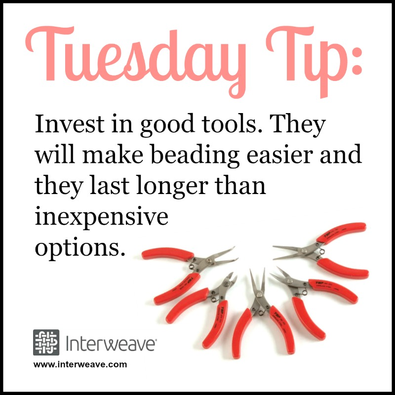 #TuesdayTip Invest in good tools. They will make beading easier, give your finished jewelry a profession look, and last longer than inexpensive options.