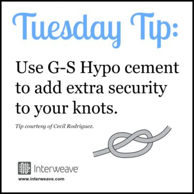 How to Finish Bead Weaving with Secure Knots. Use G-S Hypo Cement to add extra security to your knots.