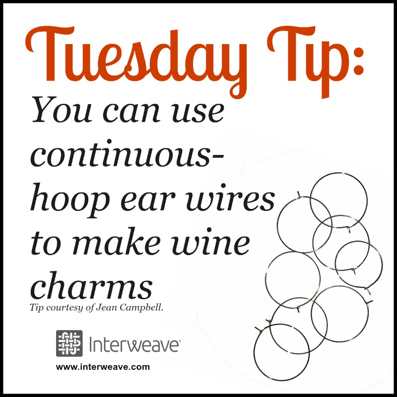 Tuesday Tip: Decorate earring hoops then use as wine charms