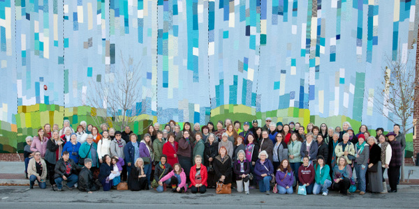 108|Contemporary, Romy Owens, and an army of knitters made it happen! Photo: Steven Michaels Photography.