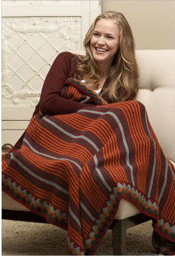 Tunisian crochet pattern by Rhonda Davis