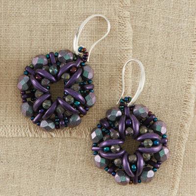Crest Earrings by Rae Burns
