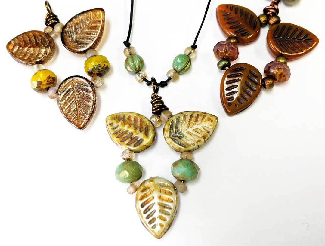 Viburnum Leaf Pendant by Beads to Live By