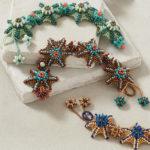 <em>Beadwork</em> Alternate Colorway Information for Agnieszka Watts's Aral Sea Bracelet Pattern