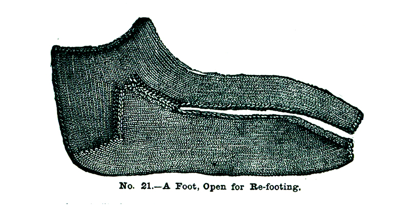 Tips for Practical Sock Knitting: Refooting a Sock