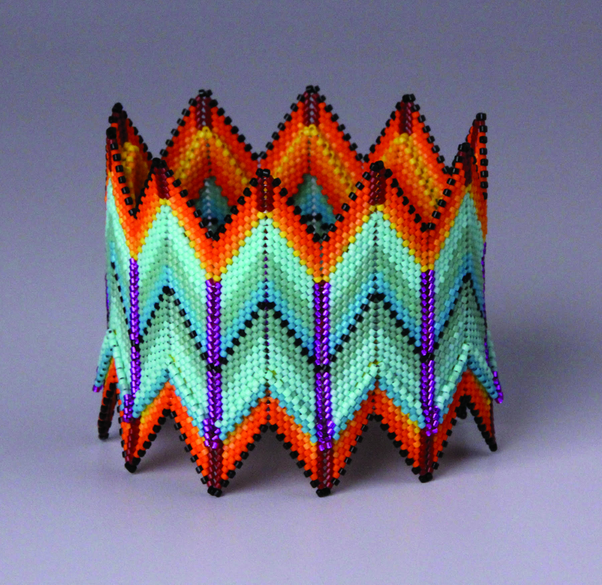 Wendy Ellsworth's Taos Cuff, 2″ h x 3″d; photo: David Ellsworth