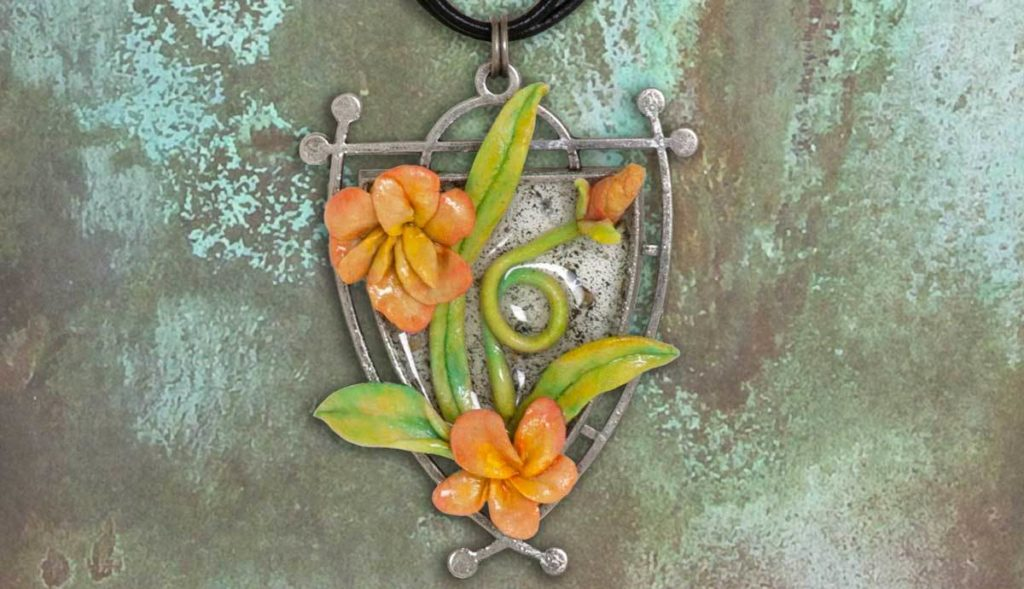 Free Tutorial: Ranger Quick Cure Clay and ICE Resin Wildflower Necklace