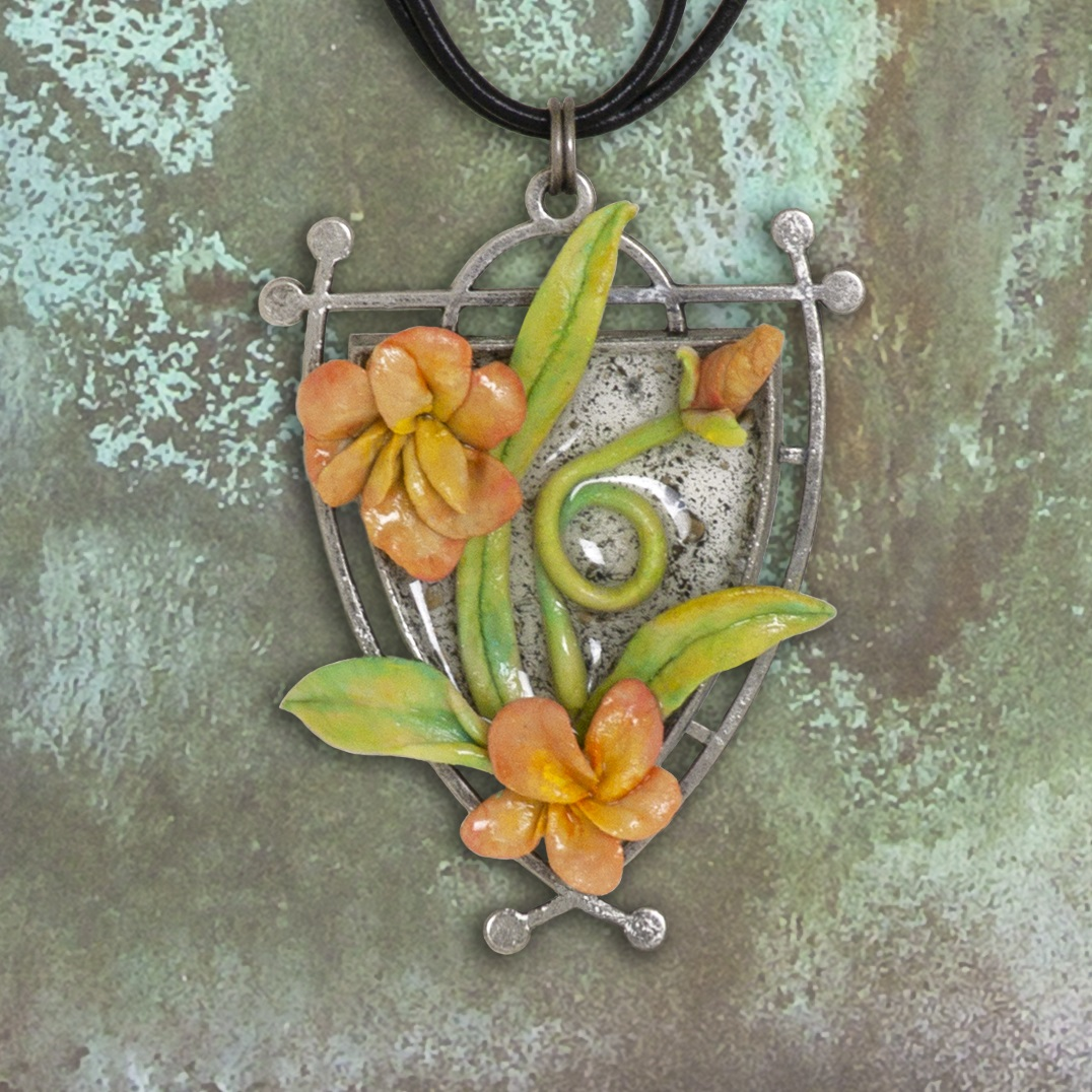 Ranger Quick Cure Clay and ICE Resin pendant