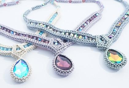 Overlapping beadwork designs