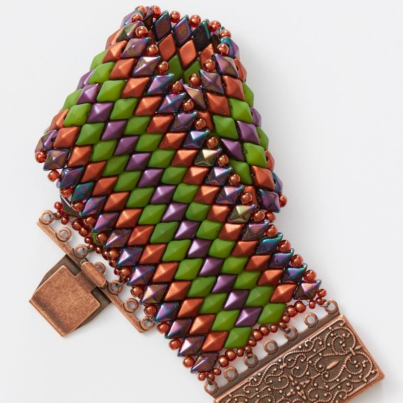 Beadweaving Artist Behind Moroccan Sunset Beaded Bracelet