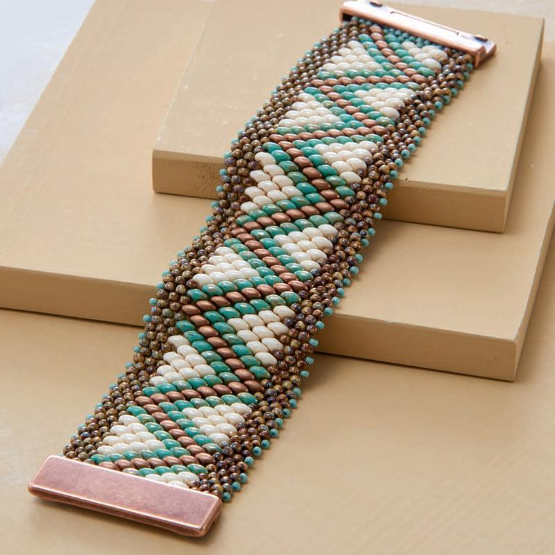 Bead Weaving a Southwest-Inspired Piece of Jewelry. Shae Wilhite's Dakota Canyon Bracelet