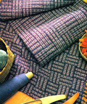 Margaret Windeknecht's color-and-weave scarf